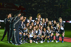 May 19, 2019 - Turin, Turin, Italy - Juventus Women celebrate the scudetto 2018-2019 at Allianz Stadium, Turin (Credit Image: © Antonio Polia/Pacific Press via ZUMA Wire)