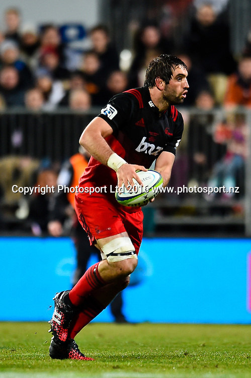 Sam Whitelock of the Crusaders during the Super Rugby Match, Crusaders V Rebels, AMI Stadium, Christchurch, New Zealand. 9th July 2016. Copyright Photo: John Davidson / www.photosport.nz