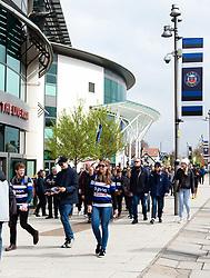 Supporters arrive at Twickenham Stadium - Mandatory byline: Patrick Khachfe/JMP - 07966 386802 - 06/04/2019 - RUGBY UNION - Twickenham Stadium - London, England - Bath Rugby v Bristol Rugby - The Clash - Gallagher Premiership Rugby