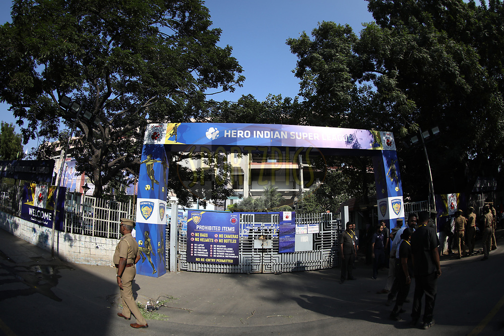 General view of gate during match 41 of the Hero Indian Super League between Chennaiyin FC and Delhi Dynamos FC   held at the Jawaharlal Nehru Stadium, Chennai India on the 7th January 2018<br /> <br /> Photo by: Arjun Singh  / ISL / SPORTZPICS