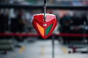 September 18-21, 2014 : Singapore Formula One Grand Prix - Ferrari pit detail