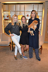 Left to right, PIPPA VOSPER, CAROLINA BONFIGLIO and ALEX MEYERS at a Valentine's Ladies breakfast hosted by Tod's and Carolina Bonfiglio at the Tod's boutique in New Bond Street, London on 10th February 2015.
