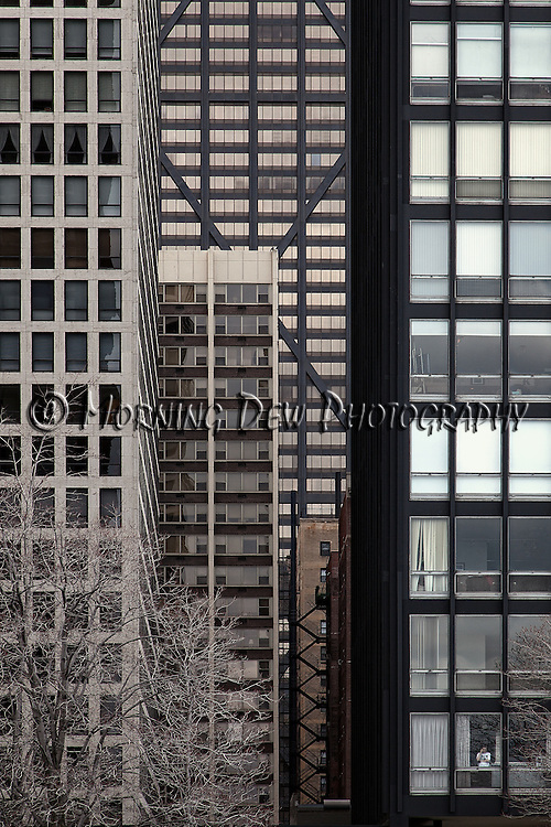 """North Lakeshore Drive (Hancock Building) - Part of the ongoing series entitled """"City Walls"""""""