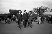 05/05/1965<br /> 05/05/1965<br /> 05 May 1965<br /> President Eamon de Valera visits the RDS Spring Show at Ballsbridge, Dublin. President de Valera on his tour of the RDS Spring Show. Mr. J. Meenan, M.A. BL., Chairman of the Executive Committee of the RDS is on the left.