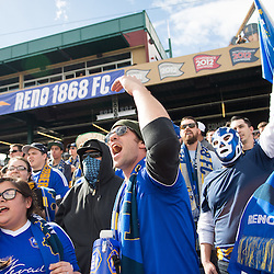 RENO, NV - FEBRUARY 18: Images from the friendly between Reno 1868 FC and their parent-club, the San Jose Earthquakes at Greater Nevada Field in Reno, Nev, Saturday, Feb. 18, 2017.<br /> <br /> (Photo by David Calvert/Reno 1868 FC)