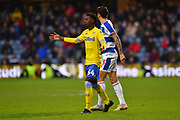 Clarke Odour (54) of Leeds United during the The FA Cup 3rd round match between Queens Park Rangers and Leeds United at the Loftus Road Stadium, London, England on 6 January 2019.