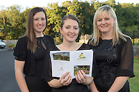 Rebecca Moffat, Jenny Ronan and Paula Hynes from The Marine Institute Choir at the Launch of the SCCUL Sanctuary at Kilcuan, Clarinbridge .<br /> Photo:Andrew Downes