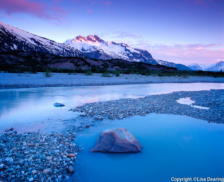 Stock photo of Glacial Pool in the Alsek River Corridor in Southeast Alaska