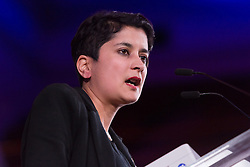 © Licensed to London News Pictures. 02/11/2015. London, UK. SHAMI CHAKRABARTI speaks at a rally against the Trade Union Bill and the right to strike in Westminster, London. Photo credit : Vickie Flores/LNP