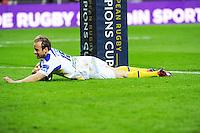 Essai Nick ABENDANON - 04.04.2015 - Clermont / Northampton - 1/4Finale European Champions Cup<br />Photo : Jean Paul Thomas / Icon Sport