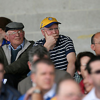 Clare fans are disappointed with the final score during their Munster Senior Hurling Championship Semi-Final clash against Tipperary in the Gaelic Grounds in Limerick on Sunday.<br /> Photograph by Yvonne Vaughan.