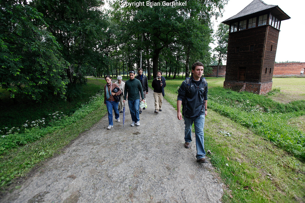 Kate, Mom, Jesus, Tour Guide David, Dad, and Joel in Auschwitz-Birkenau Concentration Camp in Poland on Tuesday July 5th 2011.  (Photo by Brian Garfinkel)