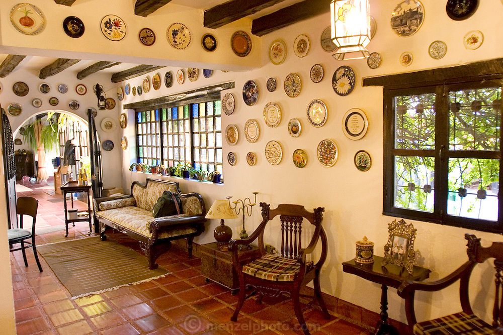 Interior of Pablo Corral Vega's farm house two hours outside Quito, Ecuador.