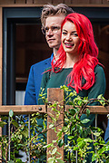 Joe Sugg and Dianne Buswell on the Blue Forest Tree House - Press preview day at The RHS Chelsea Flower Show.