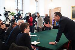 """12.02.2019, Bundesministerium Öffentlicher Dienst und Sport, Wien, AUT, Bundesregierung, Pressekonferenz """"Strategisch-Personelles"""", im Bild Vizekanzler Heinz-Christian Strache (FPÖ) // Austrian Vice Chancellor Heinz-Christian Strache during a media conference in Vienna, Austria on 2019/02/12, EXPA Pictures © 2019, PhotoCredit: EXPA/ Michael Gruber"""