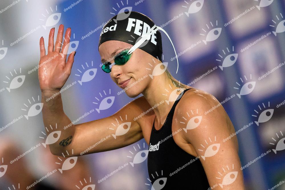 Federica Pellegrini Canottieri Aniene 200m Stile Libero donne <br /> Riccione 16-12-2016 <br /> Campionati italiani assoluti invernali open <br /> Swimming Nuoto <br /> Foto Andrea Staccioli/Deepbluemedia/Insidefoto