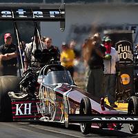 Larry Dixon at Full Throttle Drag racing series, National Hot Rod Association 2011