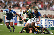 Paris, FRANCE - 9th September 2007, JP Pietersen during the Rugby World Cup, pool A, match between South Africa and Samoa held at Parc Des Princes Stadium in Paris, France...Photo by RG/Sportzpics.net