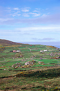 Scattered farms and fields on Dursey Head, Beara peninsula, County Cork, Ireland