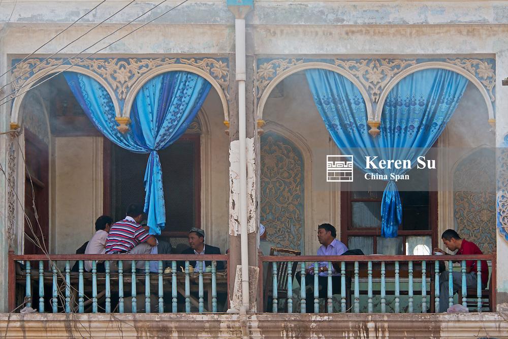 Traditional Uighur style residence, Kashgar, Xinjiang Province, Silk Road, China