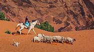 Effie, Navajo sheep herder, Monument Valley, Arizona, Utah