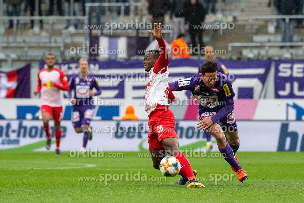 05.05.2019, Generali Arena, Wien, AUT, 1. FBL, FK Austria Wien vs FC Red Bull Salzburg, Meistergruppe, 29. Spieltag, im Bild v. l. Patson Daka (FC Red Bull Salzburg), Vesel Demaku (FK Austria Wien) // f. l. Patson Daka (FC Red Bull Salzburg) Vesel Demaku (FK Austria Wien) during the tipico Bundesliga master group 29th round match between FK Austria Wien and FC Red Bull Salzburg at the Generali Arena in Wien, Austria on 2019/05/05. EXPA Pictures © 2019, PhotoCredit: EXPA/ Florian Schroetter