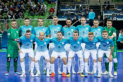 Team Slovenia during futsal match between Slovenia and Serbia at Day 1 of UEFA Futsal EURO 2018, on January 30, 2018 in Arena Stozice, Ljubljana, Slovenia. Photo by Ziga Zupan / Sportida