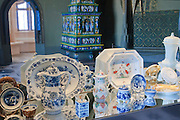 Albrechtsburg, innen, Porzellanausstellung, Meißner Porzellan, Meißen, Sachsen, Deutschland.|.Albrechtsburg, interior, china exhibition, Meissen, Saxony, Germany.