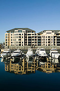 Marina Pier, Holdfast Shores, Glenelg, South Australia. A modern beachside development featuring shops, hotels apartments and eateries.