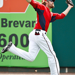 March 4, 2011; Viera, FL, USA; Washington Nationals right fielder Jayson Werth (28)catches a fly ball during a spring training exhibition game against the Atlanta Braves at Space Coast Stadium.  Mandatory Credit: Derick E. Hingle