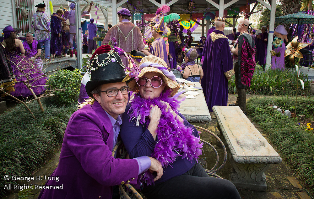 The Purple Party at the home of Robyn Halvorsen on Lundi Gras 2017