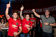 PERTH, AUSTRALIA - JULY 13: Manchester United fans sing during pregame at the International soccer match between Manchester United and Perth Glory on July 13, 2019 at Optus Stadium in Perth, Australia. (Photo by Speed Media/Icon Sportswire)