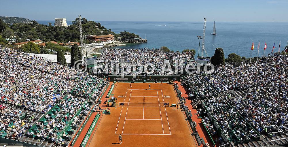 &copy; Filippo Alfero<br /> Monte-Carlo Tennis Masters 2014<br /> Monaco, 17/04/2014<br /> sport tennis<br /> Nella foto: