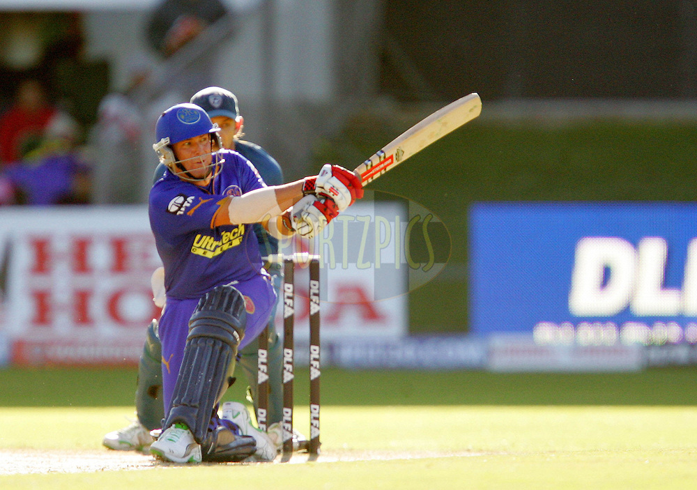 PORT ELIZABETH, SOUTH AFRICA - 02 May 2009. Shane Warne during the  IPL Season 2 match between the Deccan Chargers and the Rajatshan Royals held at St Georges Park in Port Elizabeth , South Africa..