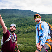Kevin and Matty discussing the routes on North Baldcap Mountain