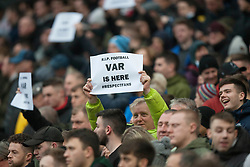 Crystal Palace fans hold up anti VAR signs - Mandatory by-line: Jack Phillips/JMP - 18/01/2020 - FOOTBALL - Etihad Stadium - Manchester, England - Manchester City v Crystal Palace - English Premier League
