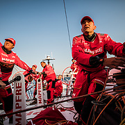 Leg Zero, Prologue, day 3 on-board MAPFRE. Photo by Jen Edney/Volvo Ocean Race. 10 October, 2017