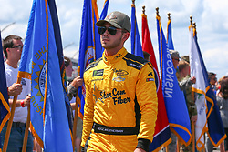 July 29, 2018 - Long Pond, PA, U.S. - LONG POND, PA - JULY 29:   Monster Energy NASCAR Cup Series driver Kyle Weatherman StarCom Fiber Chevrolet (99) during driver introductions prior to the Monster Energy NASCAR Cup Series - 45th Annual Gander Outdoors 400 on July 29, 2018 at Pocono Raceway in Long Pond, PA. (Photo by Rich Graessle/Icon Sportswire) (Credit Image: © Rich Graessle/Icon SMI via ZUMA Press)
