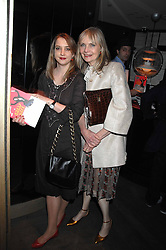 Left to right, DAISY DE VILLENEUVE and her mother JAN DE VILLENEUVE  at the launch party of the Cheap Date Guide to Style by Kira Jolliffe and Bay Garnett held at Kabaret's Prophecy,  16-18 Beak Street, London on 15th February 2007.<br /><br />NON EXCLUSIVE - WORLD RIGHTS