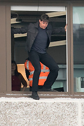 Tom Cruise jumps out of a high window in London, filming scenes for Mission Impossible 6. 13 Jan 2018 Pictured: Tom Cruise. Photo credit: MEGA TheMegaAgency.com +1 888 505 6342