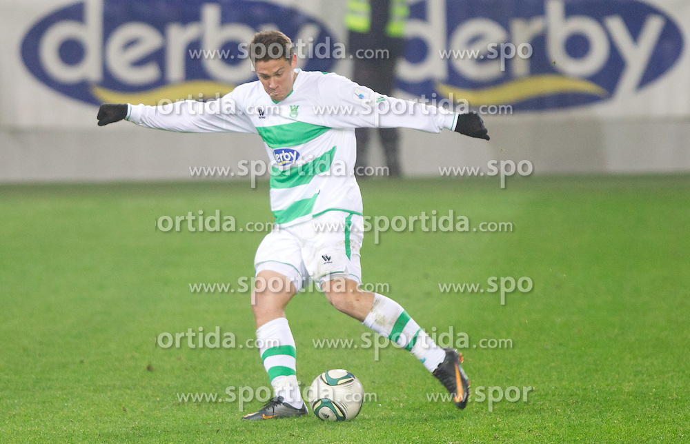 Filip Valencic of Olimpija during football match between NK Olimpija Ljubljana and CM Celje of 19th Round of PrvaLiga 2011/2012, on November 23, 2011 in SRC Stozice, Ljubljana, Slovenia.  (Photo By Vid Ponikvar / Sportida.com)