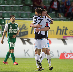 08.05.2015, Stadion der Stadt, Linz, AUT, 2.FBL, LASK Linz vs Mattersburg, während der Sky Go Erste Liga- Begegnung zwischen LASK Linz und SV Mattersburg am Freitag, 08. Mai 2015, in Linz, im Bild Torjubel LASK Linz nach dem 2:2 durch Spieler Florian Templ (LASK Linz) // during Austrian Second Football Bundesliga 32th round Match between LASK Linz and Floridsdorfer AC at the Stadion der Stadt in Linz, Austria on 2015/05/08. EXPA Pictures © 2015, PhotoCredit: EXPA/ Reinhard Eisenbauer