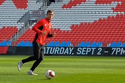 September 1, 2017 - Toronto, Ontario, Canada - Canada Soccer Men's National Team during open training session conference in Toronto before the Canada-Jamaica Men's International Friendly match at BMO Field in Toronto Canada September 2, 2017  (Credit Image: © Anatoliy Cherkasov/NurPhoto via ZUMA Press)