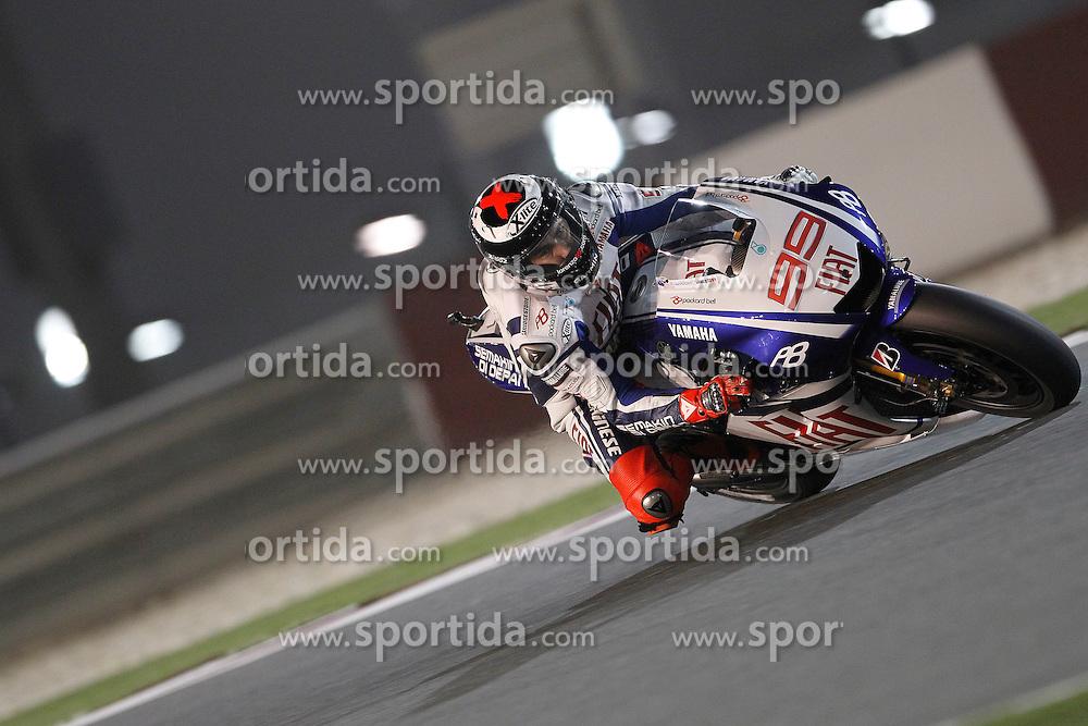 10.04.2010, Losail Circuit, Doha, QAT, MotoGP Qatar 2010, Qualification, im Bild Jorge Lorenzo - Fiat Yamaha team. EXPA Pictures © 2010, PhotoCredit: EXPA/ InsideFoto/ Semedia / SPORTIDA PHOTO AGENCY