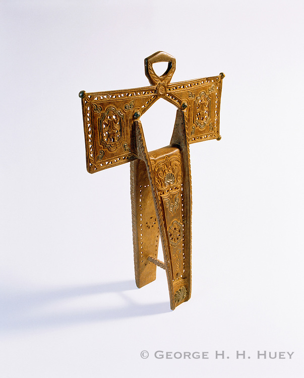 0506-1057B ~ Copyright:  George H. H. Huey ~ Spanish cruciform stirrup (private collection). Spanish Colonial period.  San Antonio Missions National Historical Park, Texas.