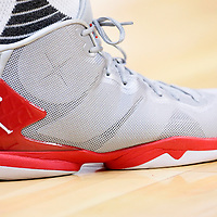 21 December 2015: Close view of Los Angeles Clippers forward Blake Griffin (32) Jordan Brand shoes during the Oklahoma City Thunder 100-99 victory over the Los Angeles Clippers, at the Staples Center, Los Angeles, California, USA.