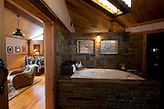 JUSTIN, TX - FEBRUARY 4, 2014: The master bathroom of a home for sale at 1780 Strader Road for the What You Get column. (Cooper Neill / for The New York Times)