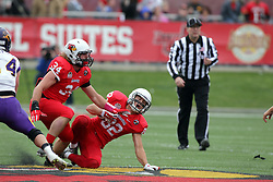 03 October 2015:  Brent Spack(34) & Anthony Warrum(82). NCAA FCS Football between Northern Iowa Panthers and Illinois State Redbirds at Hancock Stadium in Normal IL (Photo by Alan Look)