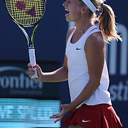 Daria Gavrilova, Russia, in action during the first round of the Connecticut Open at the Connecticut Tennis Center at Yale, New Haven, Connecticut, USA. 24th August 2015. Photo Tim Clayton