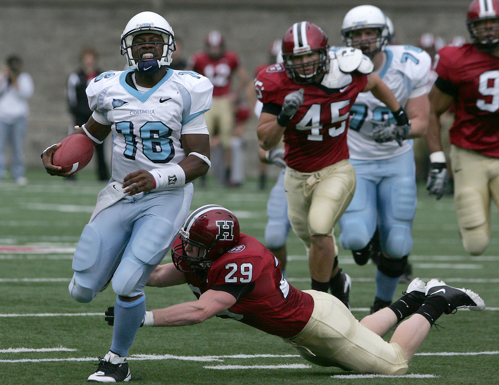 (Cambridge, MA - November 8, 2008) -  Harvard University Crimson beat the Columbia University Lions 42-28 at Harvard Stadium on Saturday. ..Photo by Will Nunnally / Will Nunnally Photography